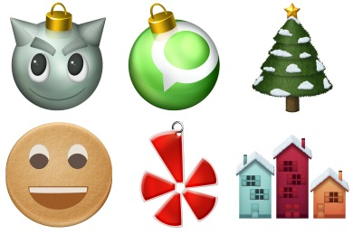 Christmas Social Icons