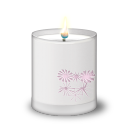 Frosted Glass Candle icon