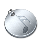 Shiny music icon