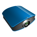 projector blue icon