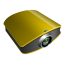 projector gold icon