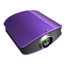 projector violet icon