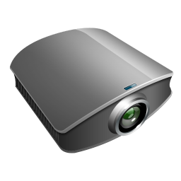 projector silver icon