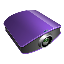 projector violet icon