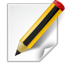 Actions-document-edit icon