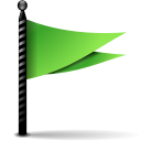 Actions-flag-green icon