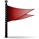Actions flag red icon
