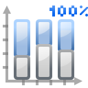 Actions office chart bar percentage icon