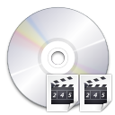 Actions tools rip video cd icon