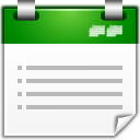 Actions view calendar list icon