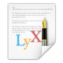 Mimetypes application x lyx icon