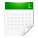 Mimetypes text calendar icon