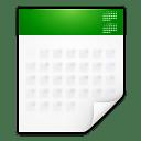Mimetypes text calendar icon