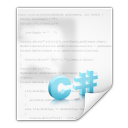 Mimetypes text x csharp icon