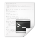 Mimetypes text x script icon