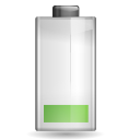 Status battery caution icon