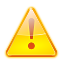 Status dialog warning icon