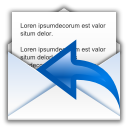 Status-mail-replied icon
