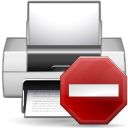 Status printer error icon