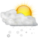 Status weather snow scattered day icon