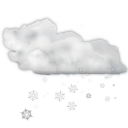 Status weather snow scattered icon