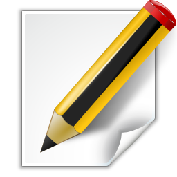 Actions document edit icon