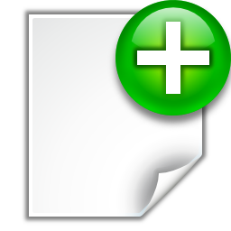 Actions document new Icon | Oxygen Iconset | Oxygen Team