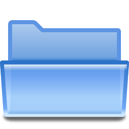 Actions document open folder icon