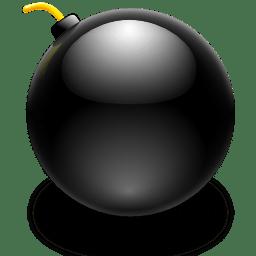 Actions edit bomb icon
