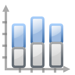 Actions office chart bar stacked icon