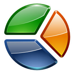 Actions office chart pie icon
