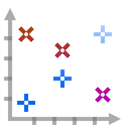Actions office chart scatter icon
