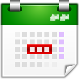 Actions view calendar upcoming days icon