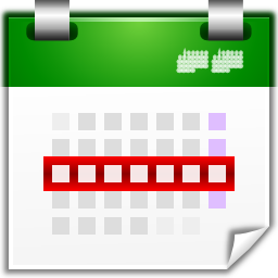 Actions view calendar week icon