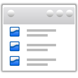 Actions view list details icon