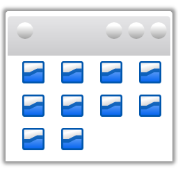 Actions view list icons icon