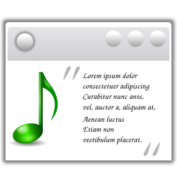 Actions view media lyrics icon