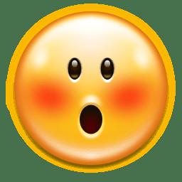 Emotes face embarrassed icon