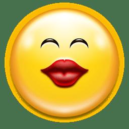 Emotes face kiss icon