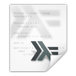 Mimetypes text x haskell icon