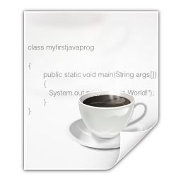 Mimetypes text x java icon