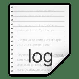 Mimetypes text x log icon