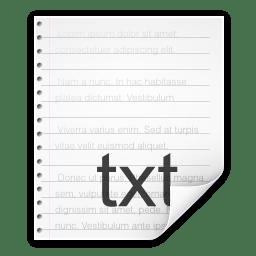 Mimetypes text x nfo icon