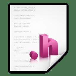 Mimetypes text x objchdr icon