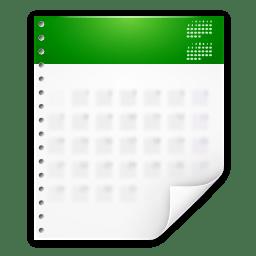 Mimetypes x office calendar icon