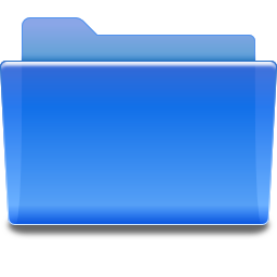 Places folder blue icon