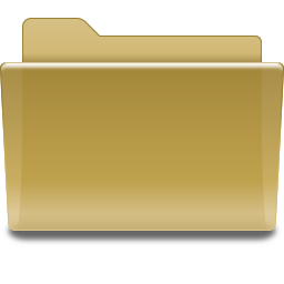 Places folder brown icon