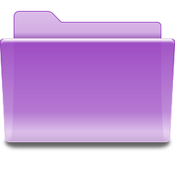 Places folder violet icon