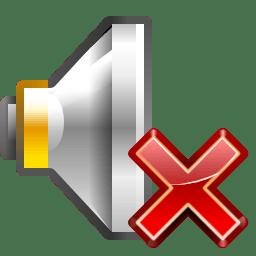 Status audio volume muted icon