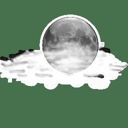 סמל הלילה כמה ענני מזג אוויר סטטוס